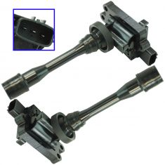 97-06 Chrysler, Mitsubishi Multifit w/1.8L, 2.0L, 2.4L Ignition Coil Set of 2 (Delphi)