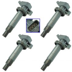 00-02 Prizm; 03-09 Vibe; 00-08 Toyota Multifit w/1.8L Ignition Coil Set of 4 (Delphi)