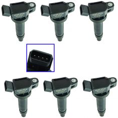 03-15 Toyota; 08-14 Lexus, Scion Multifit w/6 Cyl Ignition Coil Set of 6  (Delphi)