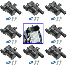 99-07 Buick Cadillac Chvy GMC Hummer Isuzu w/4.8L, 5.3L, 6.0L Ignition Coil Set of 8 (Delphi)