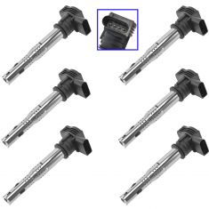 11-15 Audi Q5 Engine Ignition Coil Set of 6 (Delphi)