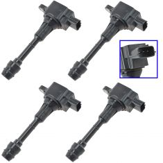 02-06 Nissan Altima, Sentra w/2.5L; 05-06 X-Trail 2.5L Ignition Coil Set of 4 (Delphi)