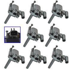 03-05 Ddg Rm 15-35; 05 Chry 300, Gr Cher, Mgnm; 04-05 Durango 5.7L Ignition Coil Set of 8(Delphi)