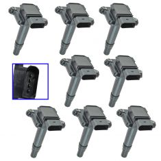 99-04 Audi A4, A6, A8, RS6, S6, S8 w4.2L Ignition Coil Set of 8 (Delphi)