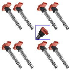 05-14 Audi A4, A5, A6, A7, A8, Q5, Q7, R8, S4, S5, S6, S8, SQ5 Touareg Ignition Coil Set of 8 (VW)