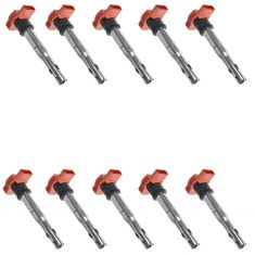 05-14 Audi A4, A5, A6, A7, A8, Q5, Q7, R8, S4, S5, S6, S8, SQ5 Touareg Ignition Coil Set of 10 (VW)