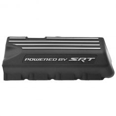 11-15 Challenger, Charger, 300 w/6.4L Black ~Powered by SRT~ Logoed Engine Valve Cover RH (Mopar)