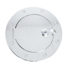 Locking Gas Cap Door, Chrome, 07-14 Jeep Wrangler