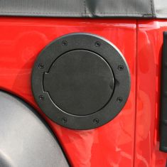 Non-Locking Gas Cap Door, Black, 07-14 Jeep Wrangler