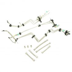 01-03 Silverado, Sierra 2500HD, 3500 Ext Cab w/6.0L, 8.1L (11 PC) SS Frt Fuel Line Kit w/Filter (DM)