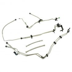 01-05 Silverado, Sierra 2500HD,3500 Ext Cab w/6.6L Diesel (8 PC) SS Front Fuel Line Kit (DM)
