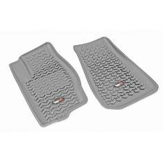 07-12 Dodge Caliber; 07-14 Jeep Compass,Patriot Gray Front Floor Liner SET (Rugged Ridge)