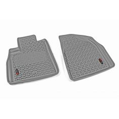 07-14 Acadia; 08-14 Enclave; 07-10 Outlook; 09-14 Traverse Gray Front Floor Liner SET (Rugged Ridge)