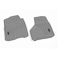 09-11 Dodge Ram 1500-3500 Crew Cab w/1 Hook Gray Front Floor Liner SET (Rugged Ridge)
