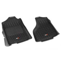 12-14 Dodge Ram 1500-3500 w/Reg & Quad Cab Black Front Floor Liner SET (Rugged Ridge)