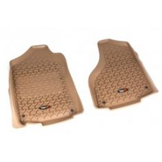 12-14 Dodge Ram 1500-3500 w/Reg & Quad Cab Tan Front Floor Liner SET (Rugged Ridge)