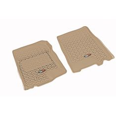 01-03 F150 Supercrew; 97-02 Exptn; 98-02Navi; 02-03 Blckwd Tan Front Floor Liner SET (Rugged Ridge)