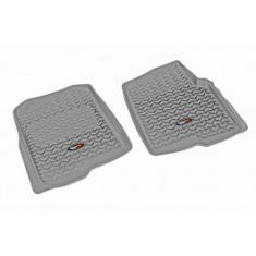 04-08 Ford F150 Crew Cab Gray Front Floor Liner SET (Rugged Ridge)