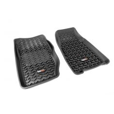84-01 Jeep Cherokee Black Front Floor Liner SET (Rugged Ridge)