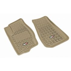 05-10 Jeep Grand Cherokee; 06-10 Commander Tan Front Floor Liner SET (Rugged Ridge)