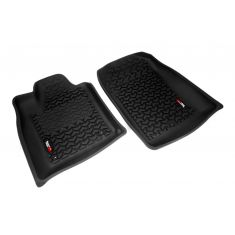 11 Dodge Durango, Jeep Grand Cherokee w/1 RH Hook Black Front Floor Liner SET (Rugged Ridge)