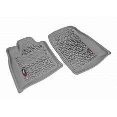 11 Dodge Durango, Jeep Grand Cherokee w/1 RH Hook Gray Front Floor Liner SET (Rugged Ridge)