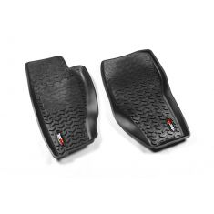 08-13 Jeep Liberty Black Front Floor Liner SET (Rugged Ridge)