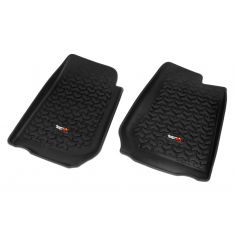 07-13 Jeep Wrangler (2DR/4DR) w/RHD Black Front Floor Liner SET (Rugged Ridge)