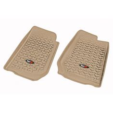 07-13 Jeep Wrangler (2DR/4DR) w/RHD Tan Front Floor Liner SET (Rugged Ridge)