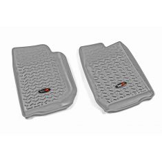 07-13 Jeep Wrangler (2DR/4DR) w/LHD GrayFront Floor Liner SET (Rugged Ridge)