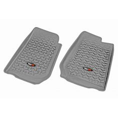 07-13 Jeep Wrangler (2DR/4DR) w/RHD GrayFront Floor Liner SET (Rugged Ridge)
