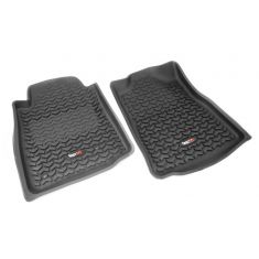 07-11 Toyota Tundra; 08-11 Sequoia w/StdHook Black Front Floor Liner SET (Rugged Ridge)