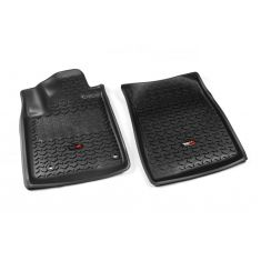 12-14 Toyota Tundra, Sequoia w/Twist Hook Black Front Floor Liner SET (Rugged Ridge)