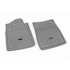 12-14 Toyota Tundra, Sequoia w/Twist Hook Gray Front Floor Liner SET (Rugged Ridge)