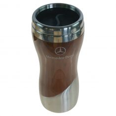 MB Lifestyle Collection Double Wall Stainless Steel & Wood Grain ~Mercedes Benz~ Logoed Tumbler (MB)