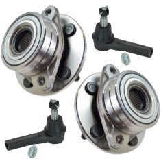 96-07 Ford Taurus; 96-05 Mercury Sable Wheel Hub & Outer Tie Rod Kit (Set of 4)