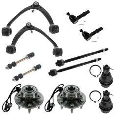 07-14 GM Full Size SUV & Truck 1500 w/4WD Complete Frt Stg & Wheel Hub Suspension Kit (12 Piece Set)