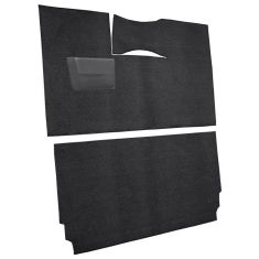 57-58 Dodge Coronet Complete Carpet 01 Black