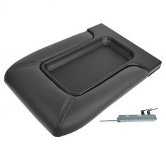 01-07 GM FS Pickup, SUV w/Front Row Split Bench Dark Gray Console Lid Repair Kit (Dorman)
