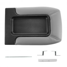 01-07 GM FS Pickup, SUV w/Front Row Split Bench Light Gray Console Lid Repair Kit (Dorman)