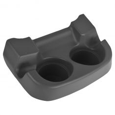 01 (fr 8/14/00)-04 Excrsn, F250SD-F550SD Frnt Flr Cnsle Mtd Dk Parchment Dual Cup Holder Insert (FD)