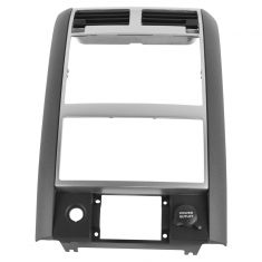 04-06 Dodge Durango Center Dash Mounted 2 Din Gray Radio/ Navigation Bezel Assembly (Mopar)