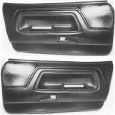 1970-74 Dodge Challenger Molded Plastic Door Panels Black