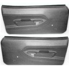 1970-74 Plymouth Barracuda Molded Plastic Door Panels In Black