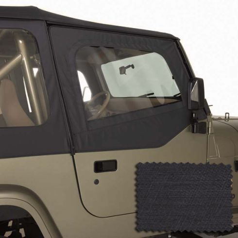 Door Skins, Black Denim, 88-95 Jeep Wrangler (YJ)