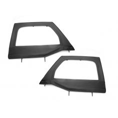 Upper Soft Door Kit, Front, Black Diamond, 07-14 Jeep Wrangler (JK)
