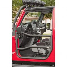 Front Tube Doors, Textured Black, 07-14 Jeep Wrangler (JK)