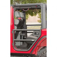 Rear Tube Doors, Textured Black, 07-14 Jeep Wrangler Unlimited (JK)