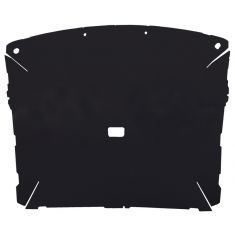 87-96 Ford F150, F250 Pickup Regular Cab Foamback Cloth Black ABS Headliner