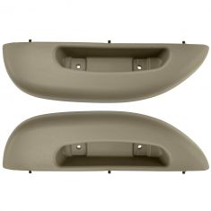 96-02 Chevy Express, GMC Savana Van Front Door Panel Mounted Neutral Armrest/ Pull Handle Pair